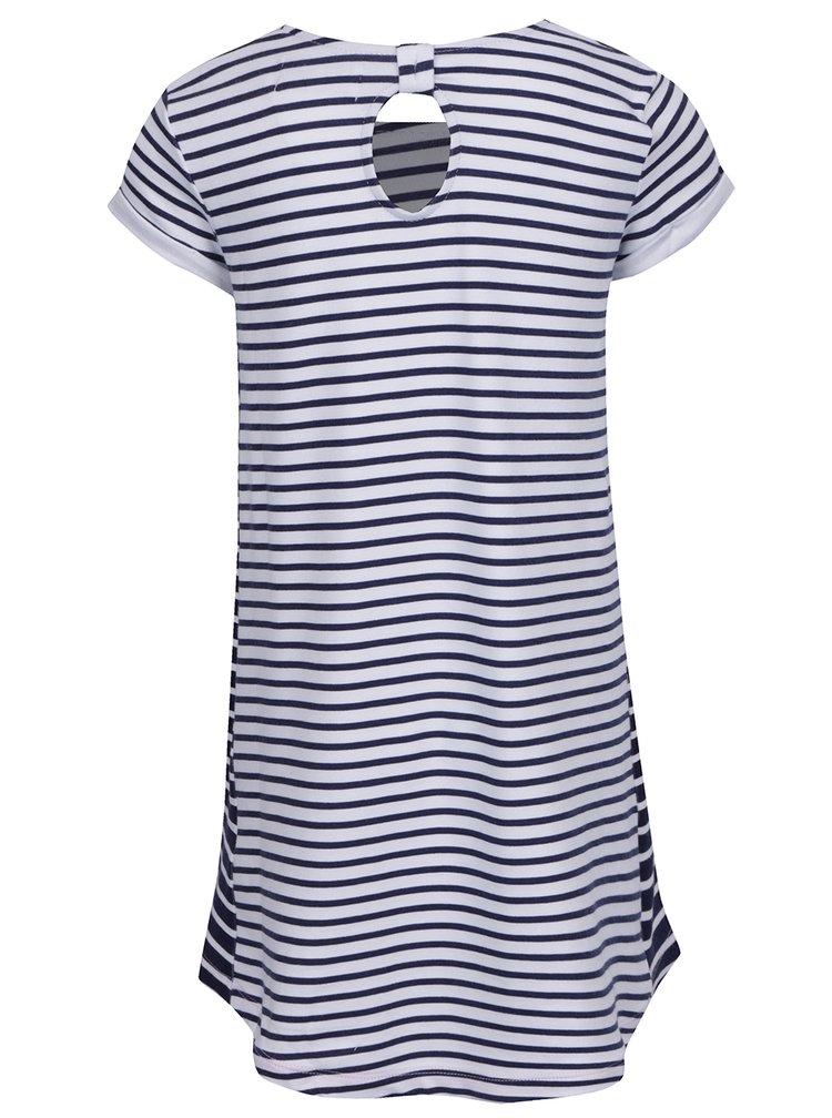 Rochie alb&albastru  5.10.15. pentru fete cu model în dungi