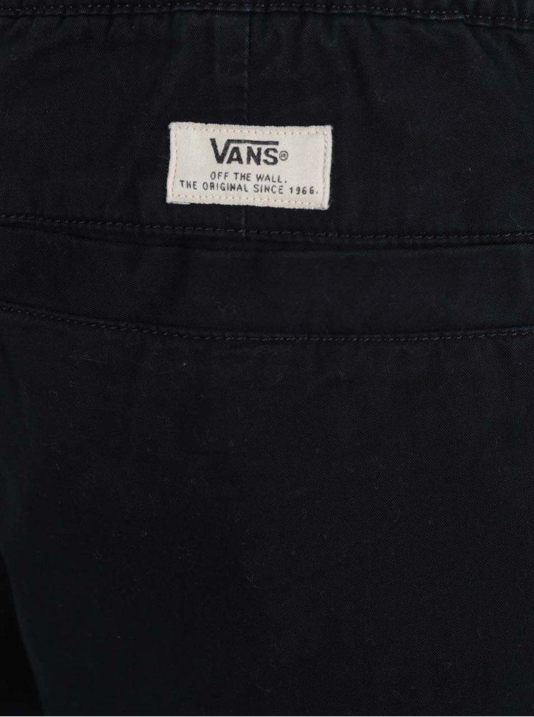 Černé pánské kraťasy s gumou v pase VANS Range