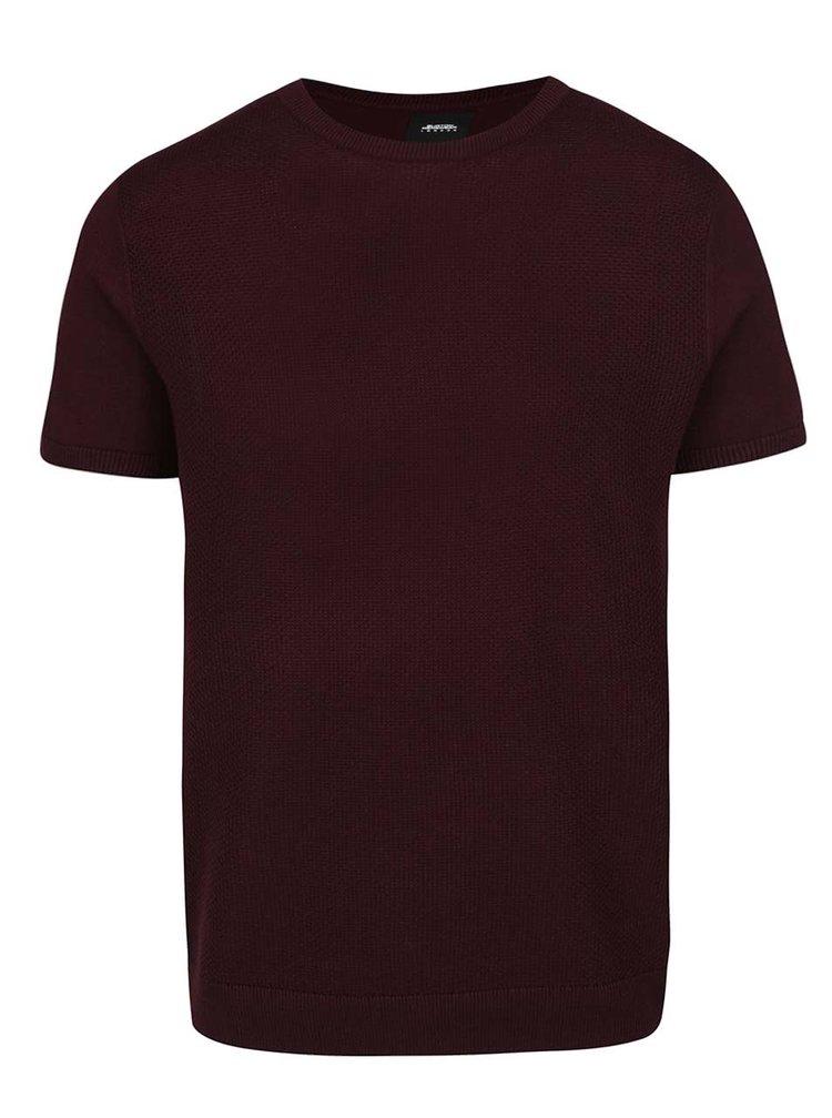 Tricou vișiniu Burton Menswear London din jerseu