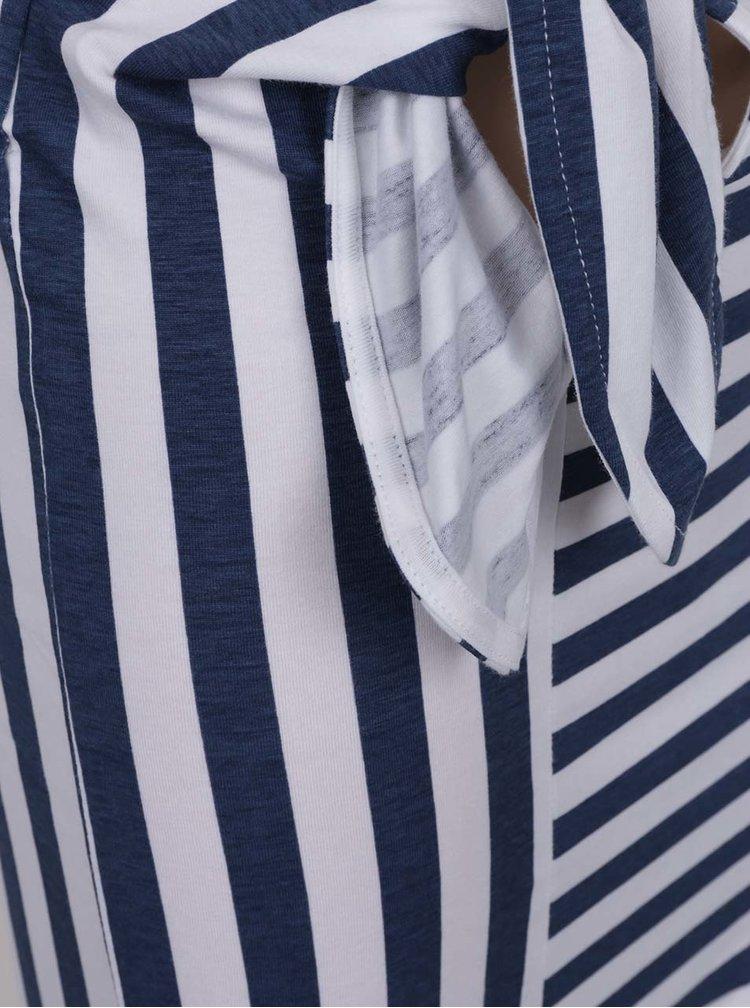 Bílo-modrá holčičí pruhovaná sukně se zavazováním 5.10.15.