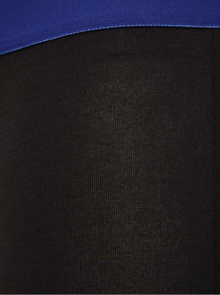 Sada dvou černých boxerek se zelenými a modrými detaily DIM