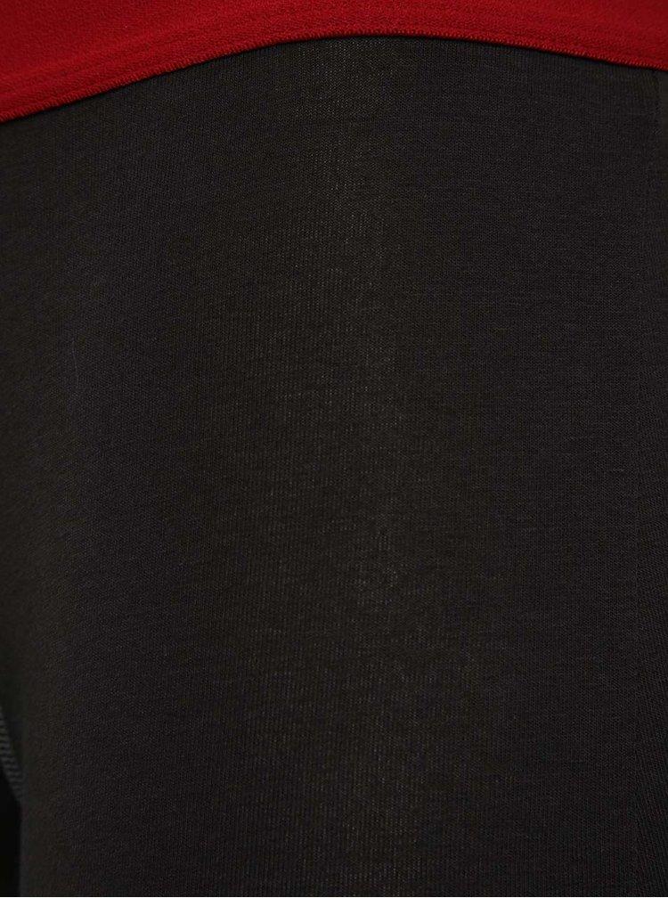 Sada dvou černých boxerek s červenými a šedými detaily DIM