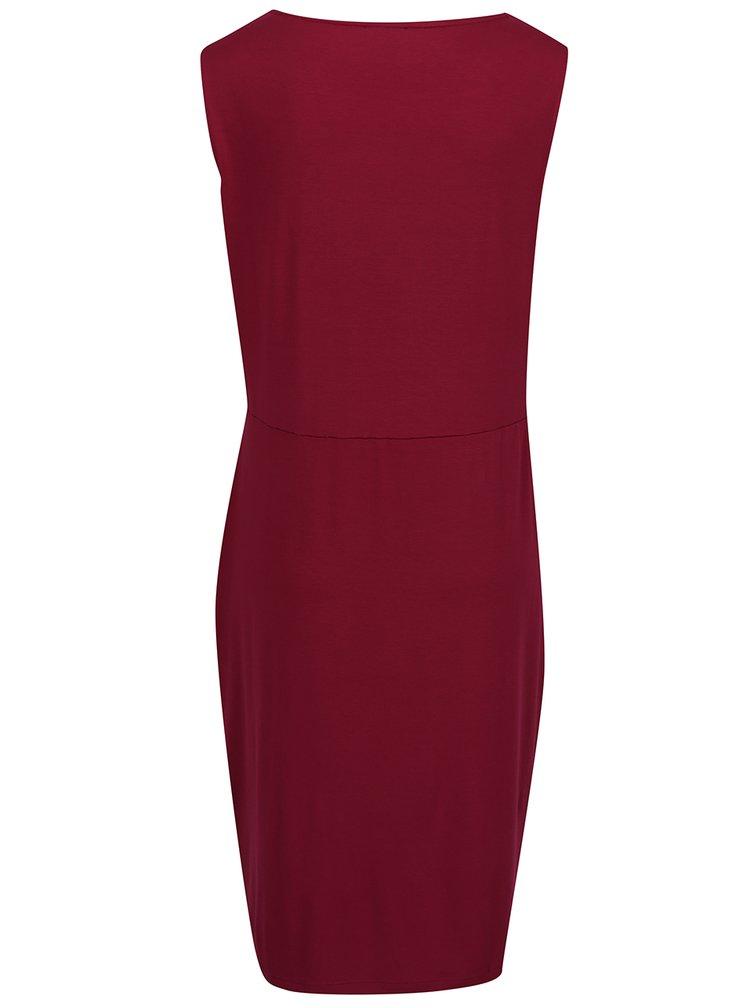 Vínové šaty bez rukávů Gina Laura