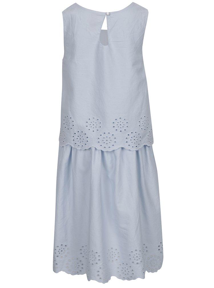 Světle modré holčičí šaty z madeiry 5.10.15.