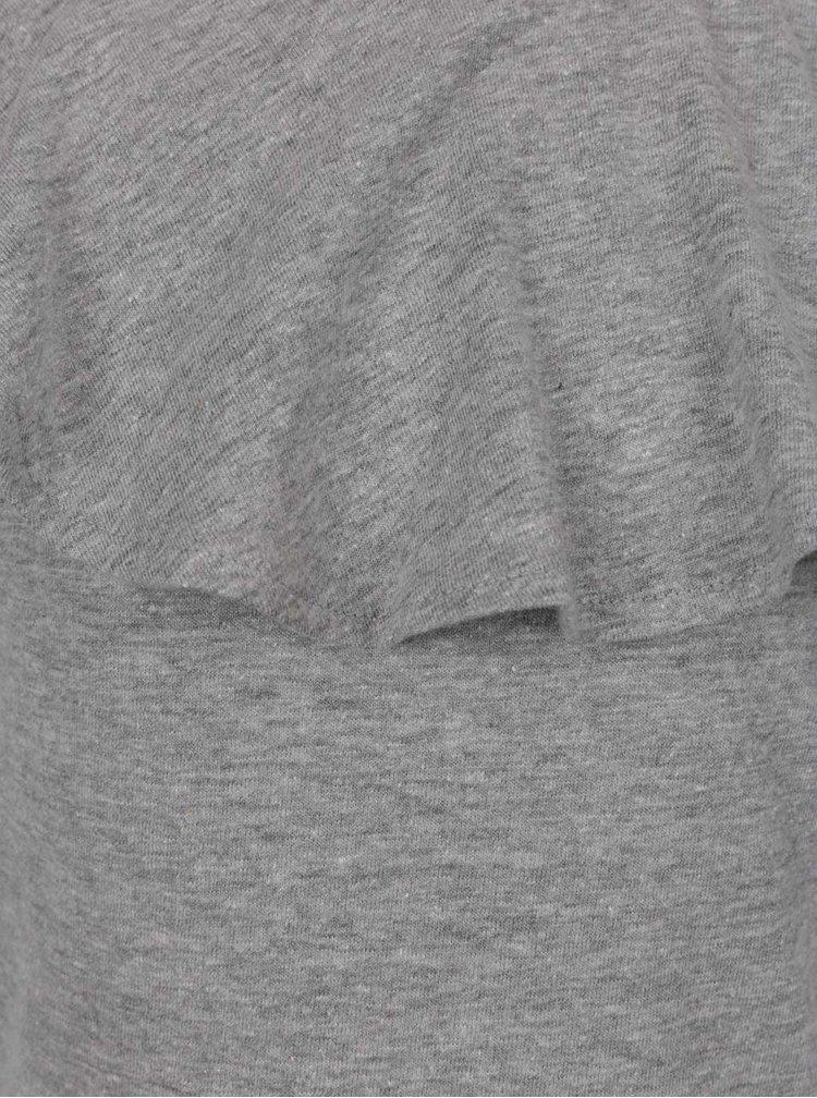 Šedé holčičí tričko s volánem 5.10.15.