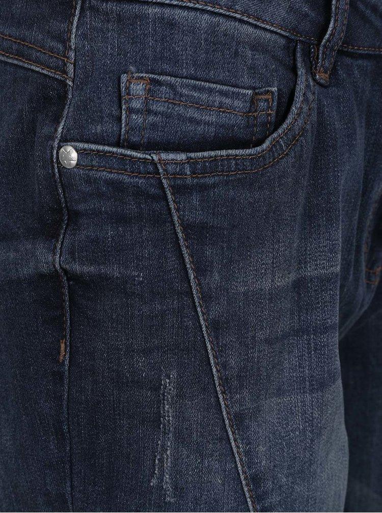 Modré džínové kraťasy s aplikací ve tvaru hvězd Gina Laura