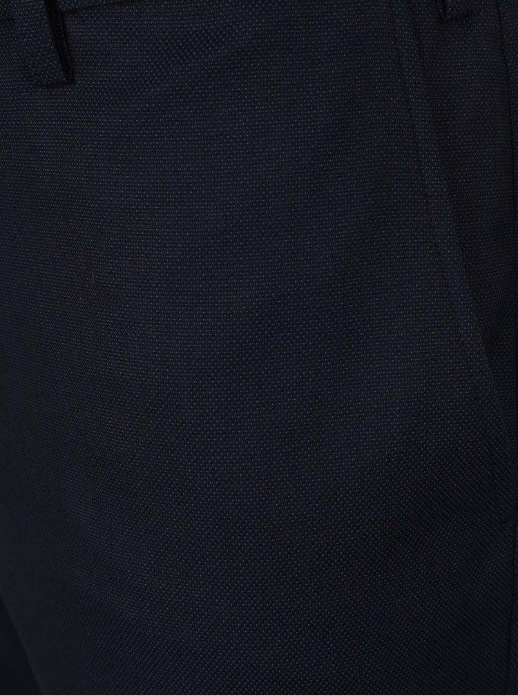 Tmavě modré oblekové kalhoty Burton Menswear London