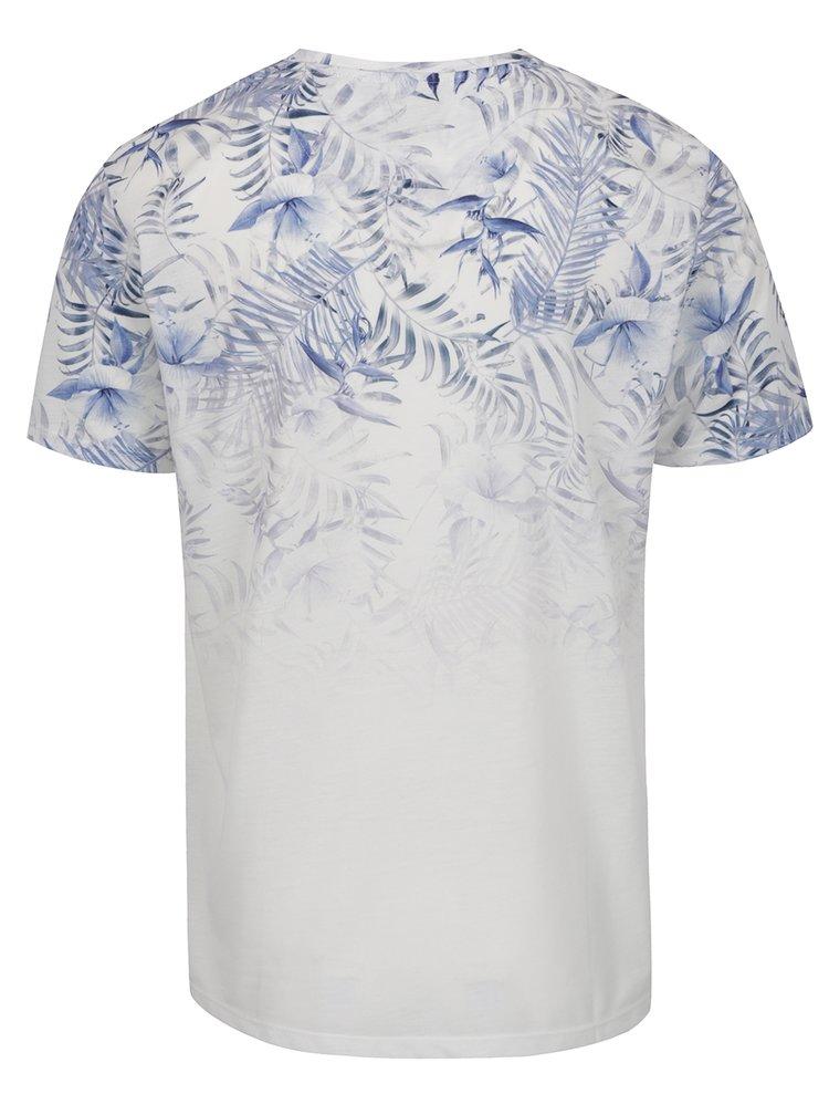 Tricou albastru&crem Burton Menswear London