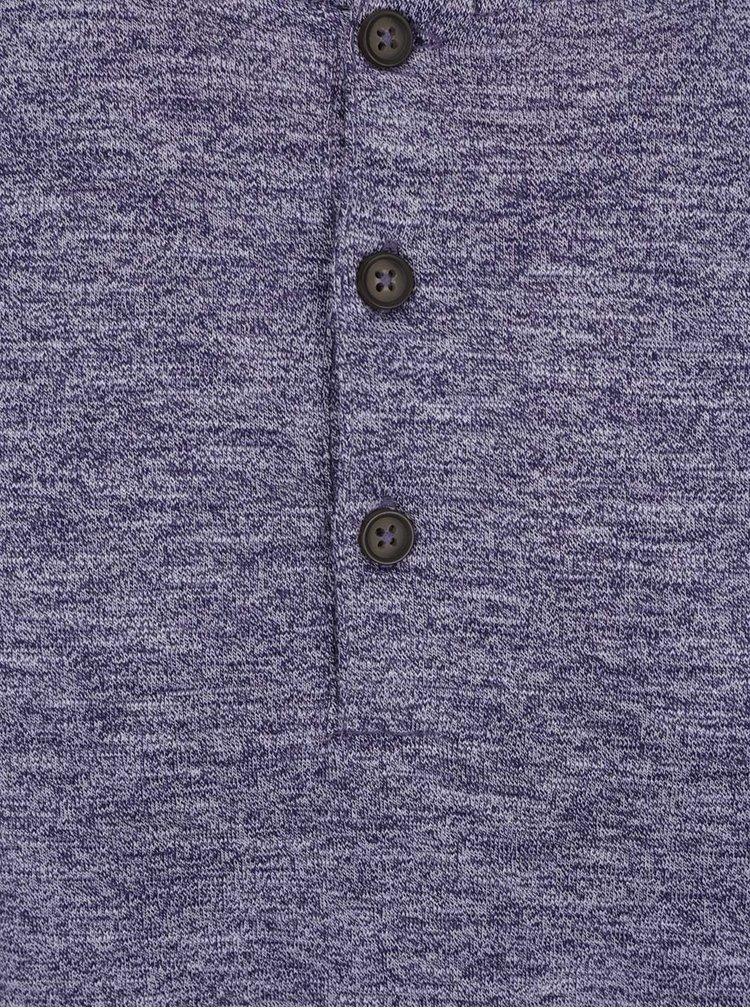 Bluza albastru melanj Burton Menswear London din bumbac
