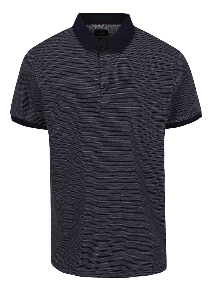 Tricou polo bleumarin Burton Menswear London cu model discret