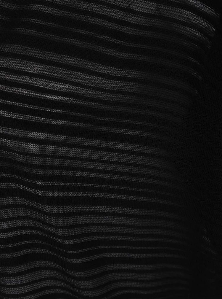 Černý kardigan s jemným vzorem Ulla Popken