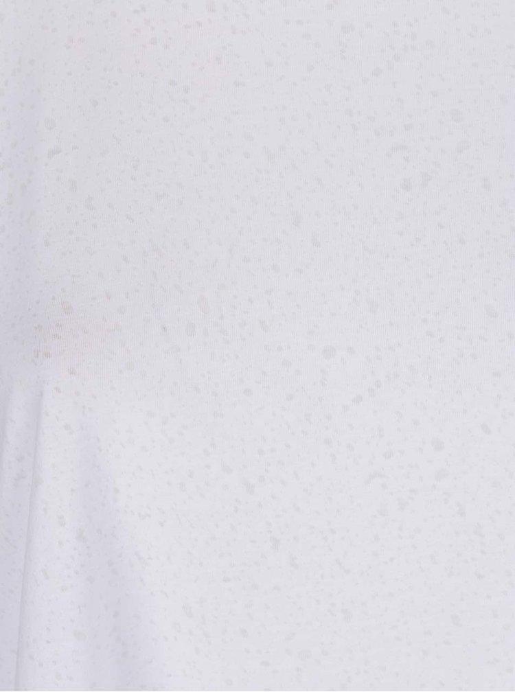 Tricou alb Ulla Popken cu decolteu rotund