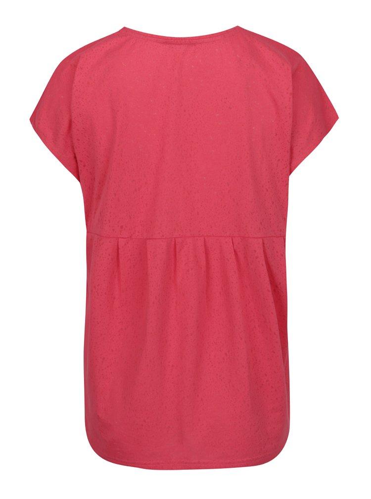 Tricou rosu  Ulla Popken cu decolteu rotund