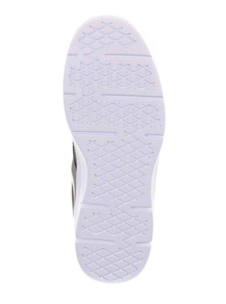 Pantofi sport kaki VANS Old skool cu detalii albe