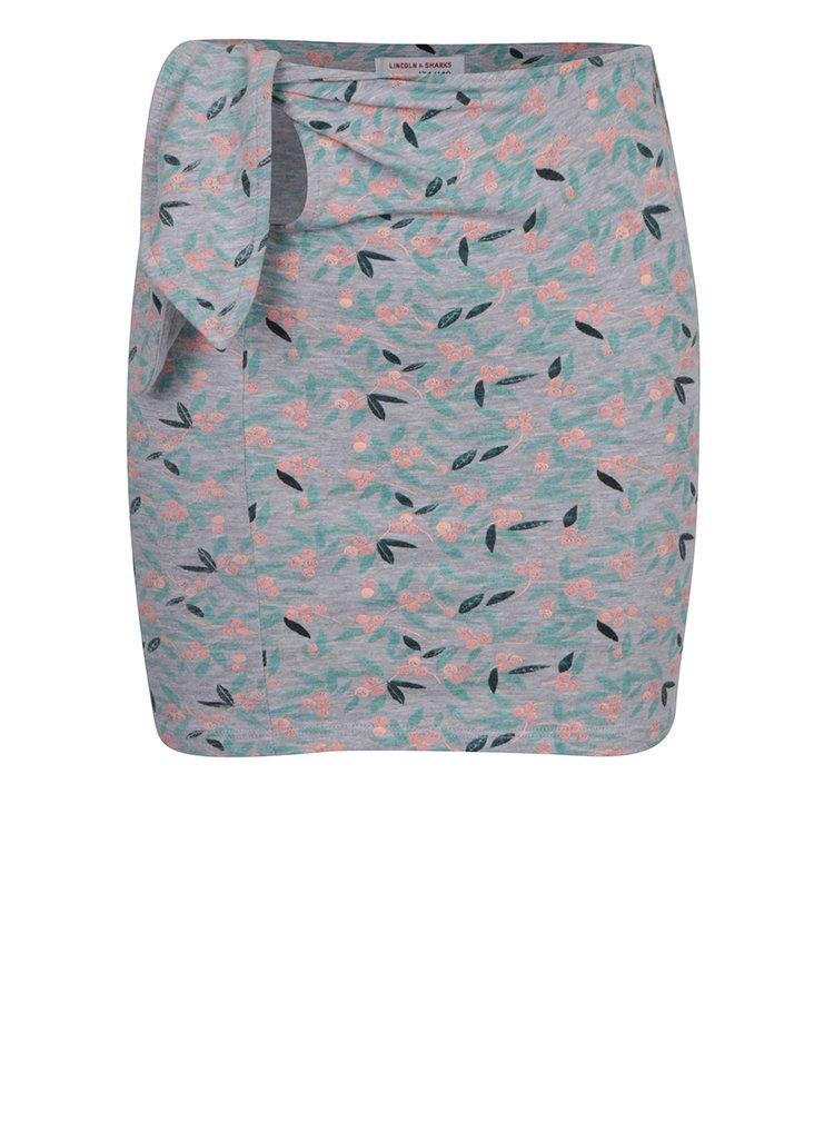 Šedá holčičí vzorovaná sukně se zavazováním 5.10.15.