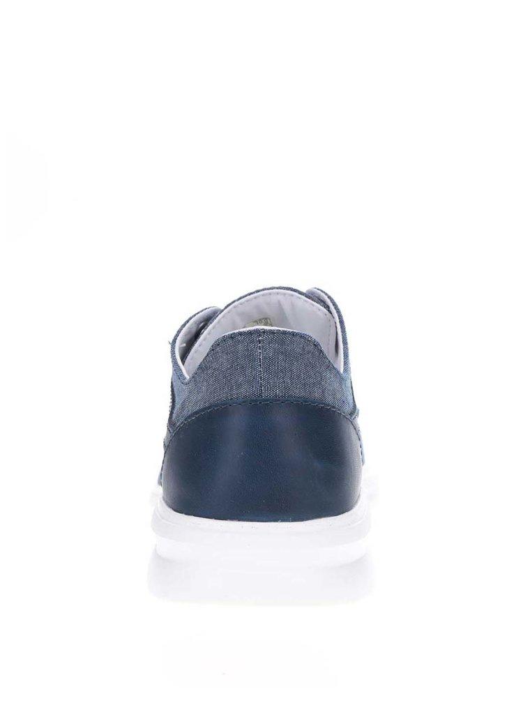 Světle modré pánské tenisky s koženými detaily VANS