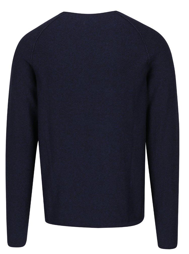 Tmavě modrý žíhaný svetr Jack & Jones Trevor