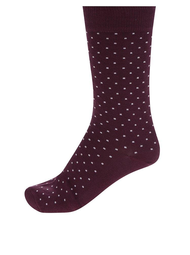 Set 4 perechi de sostete rosu burgundy, albastru si negru Burton Menswear London