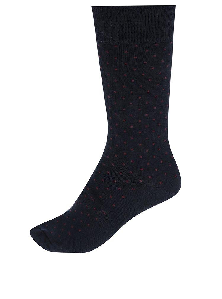 Sada čtyř párů puntíkovaných ponožek ve vínové, modré a černé barvě Burton Menswear London