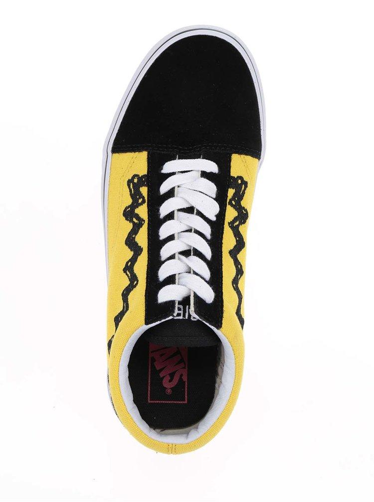 Žluto-černé unisex tenisky se semišovými detaily VANS Old Skool