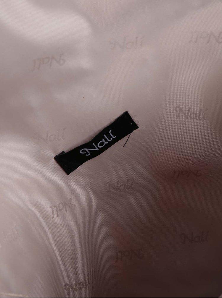 Béžové slaměné psaníčko kabelka s výšivkou Nalí