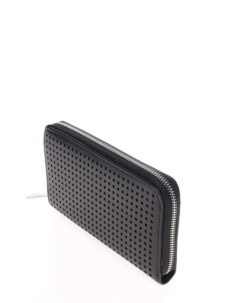 Portofel negru Nalí  cu model cu perforatii