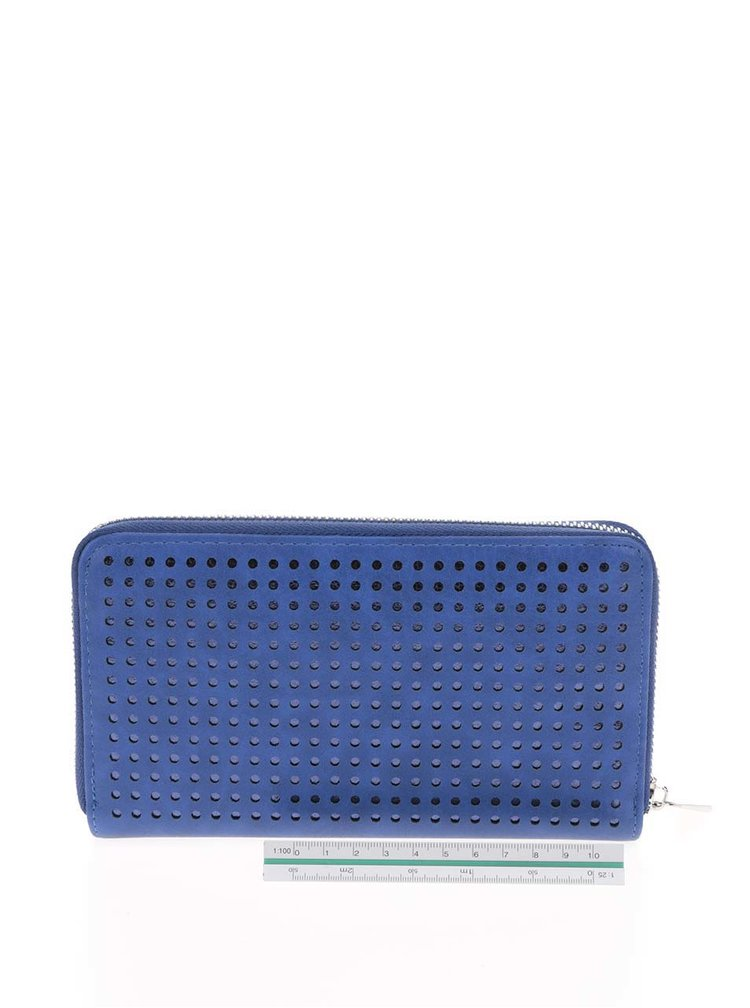 Portofel albastru Nalí  cu model cu perforatii
