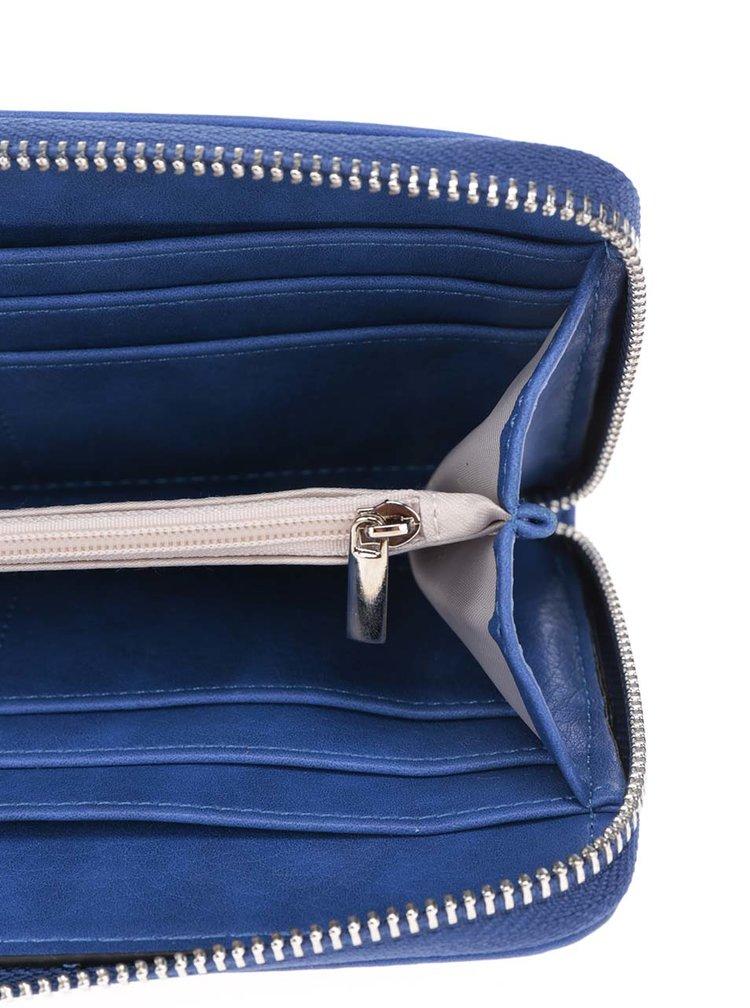 Modrá perforovaná peněženka Nalí