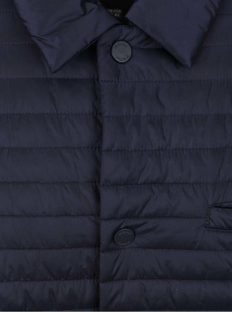 Tmavě modrá pánská prošívaná bunda Geox