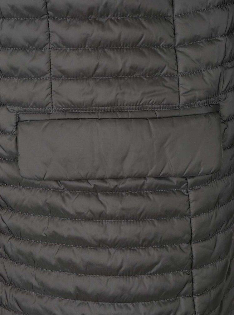 Jachetă gri matlasată impermeabilă Geox