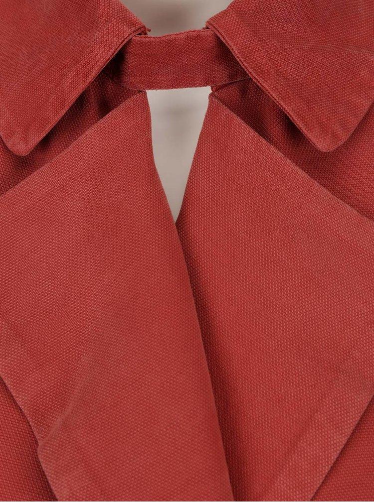 Cihlová lehká dámská bunda s.Oliver
