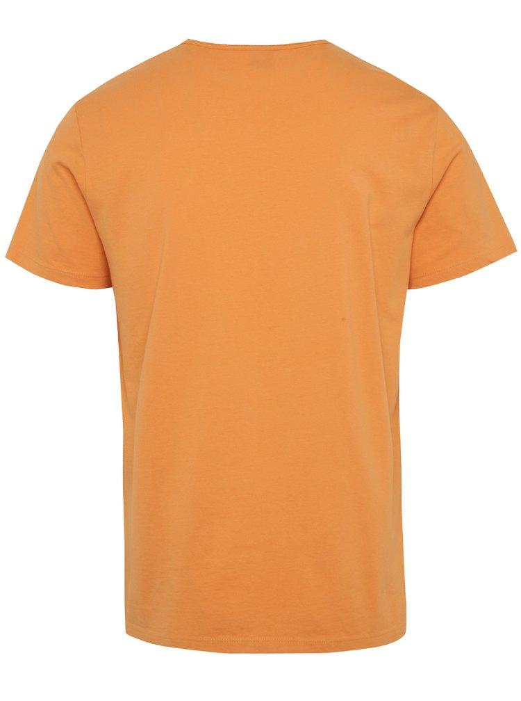 Tricou portocaliu s.Oliver cu imprimeu