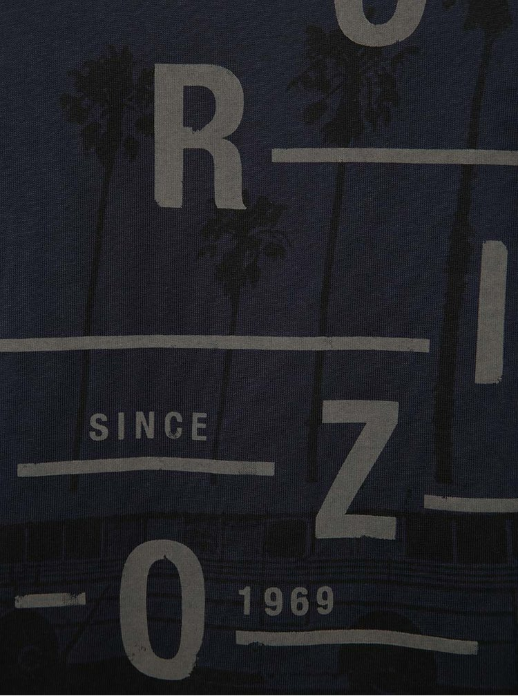 Tricou  albastru marin s.Oliver cu print