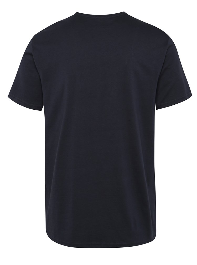 Šedo-modré pánské triko s potiskem s.Oliver