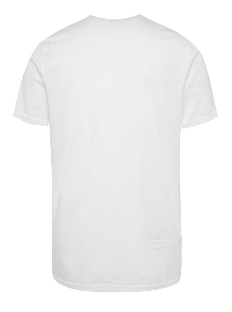Zeleno-bílé pánské triko s potiskem s.Oliver