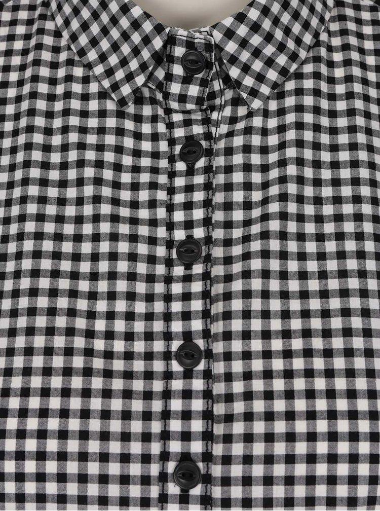Krémovo-černá kostkovaná halenka QS by s.Oliver