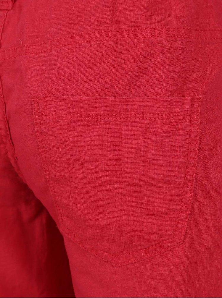 Pantaloni roșii QS by s.Oliver cu buzunare oblice