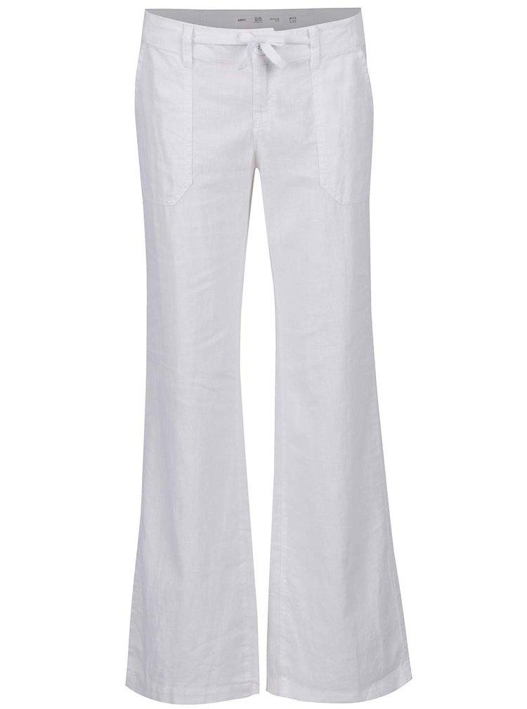 Krémové dámské lněné kalhoty QS by s.Oliver
