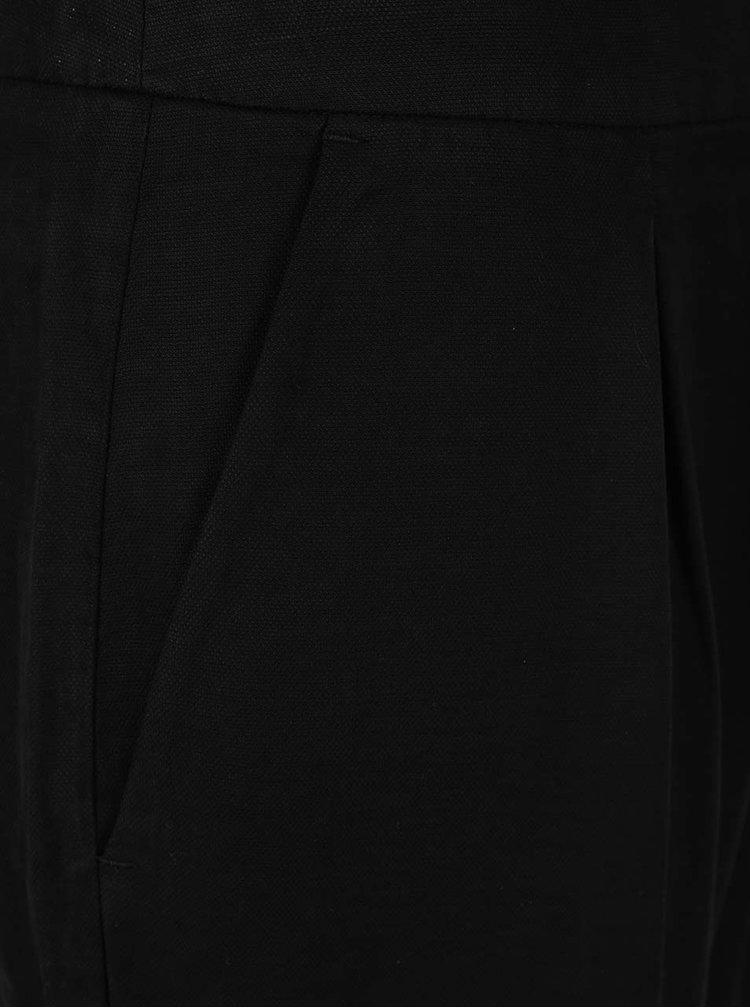 Černé dámské zkrácené chino kalhoty s.Oliver