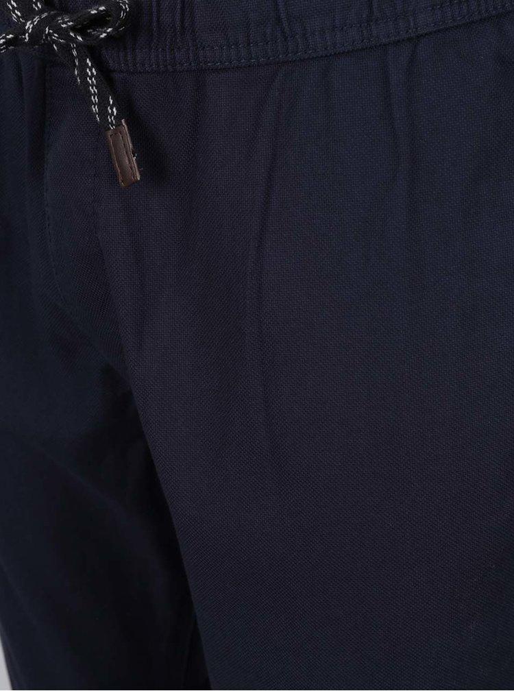 Tmavě modré pánské kalhoty s elastickým pasem s.Oliver