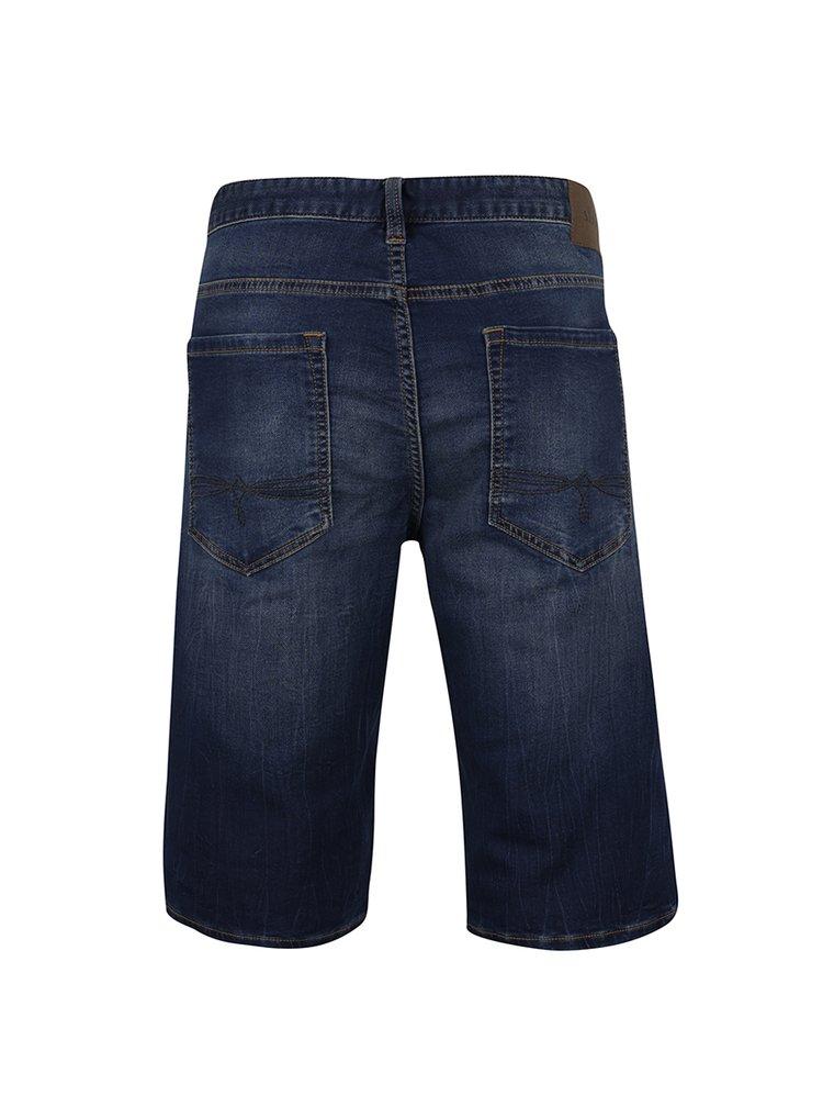 Tmavě modré pánské džínové kraťasy s.Oliver