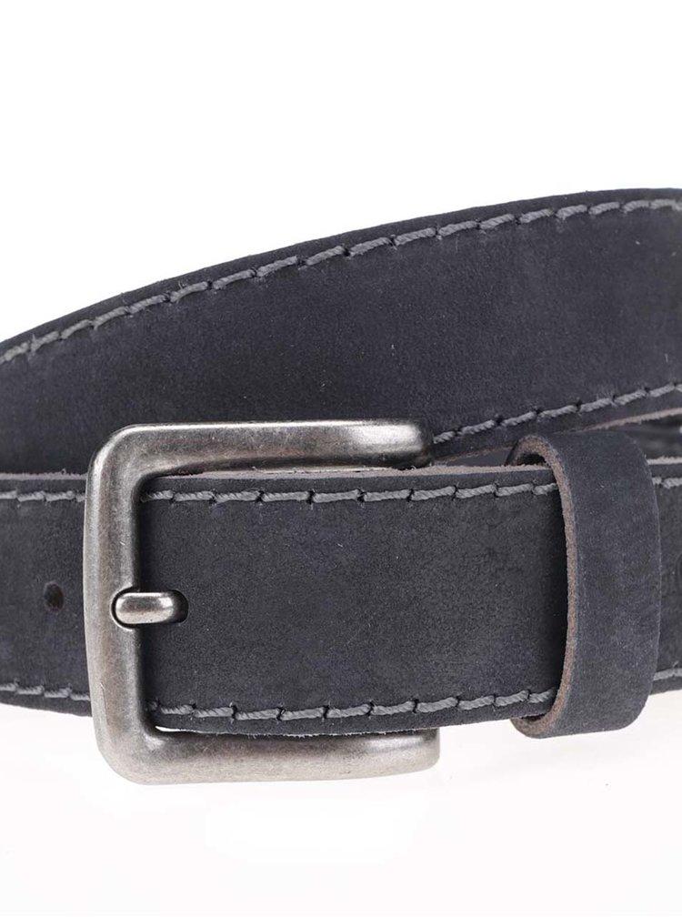 Tmavě modrý pánský kožený pásek s.Oliver
