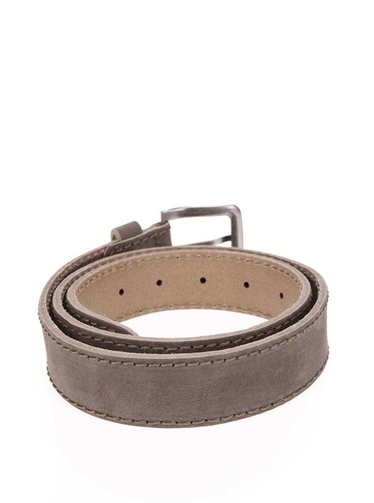 Hnědý pánský kožený pásek s.Oliver