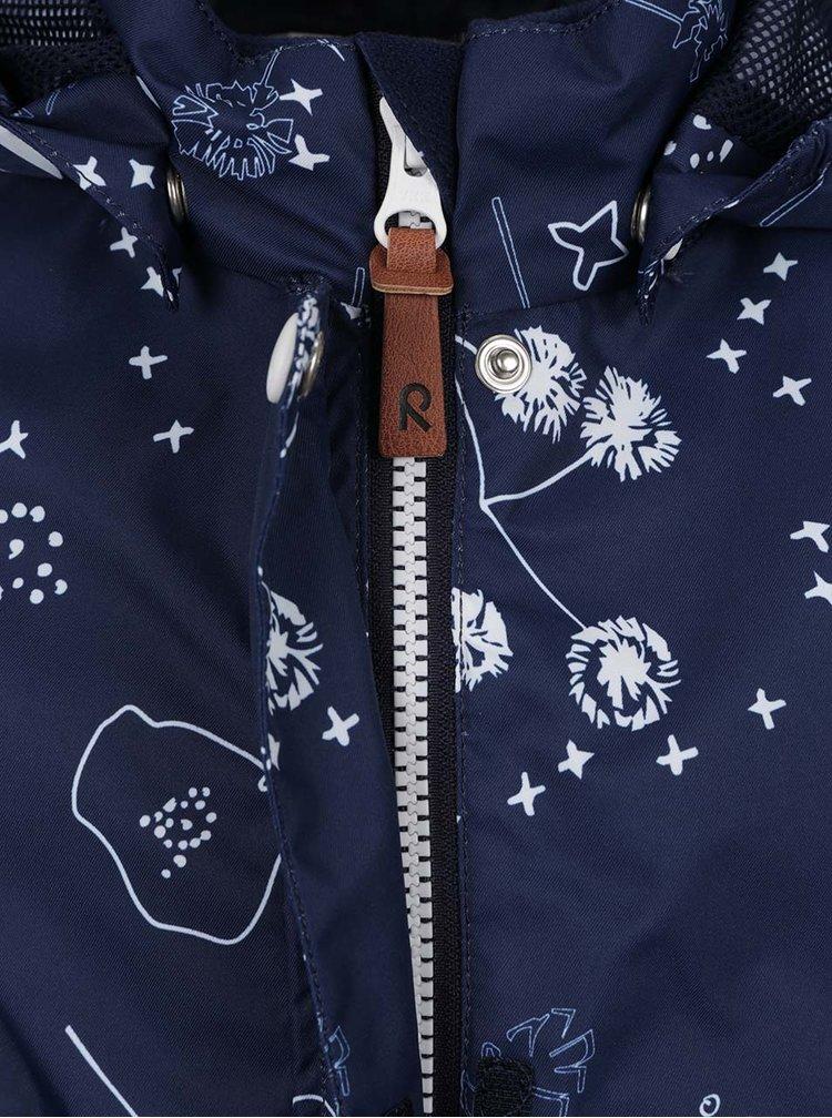 Tmavě modrá holčičí vzorovaná voděodolná bunda Reima Kimalle
