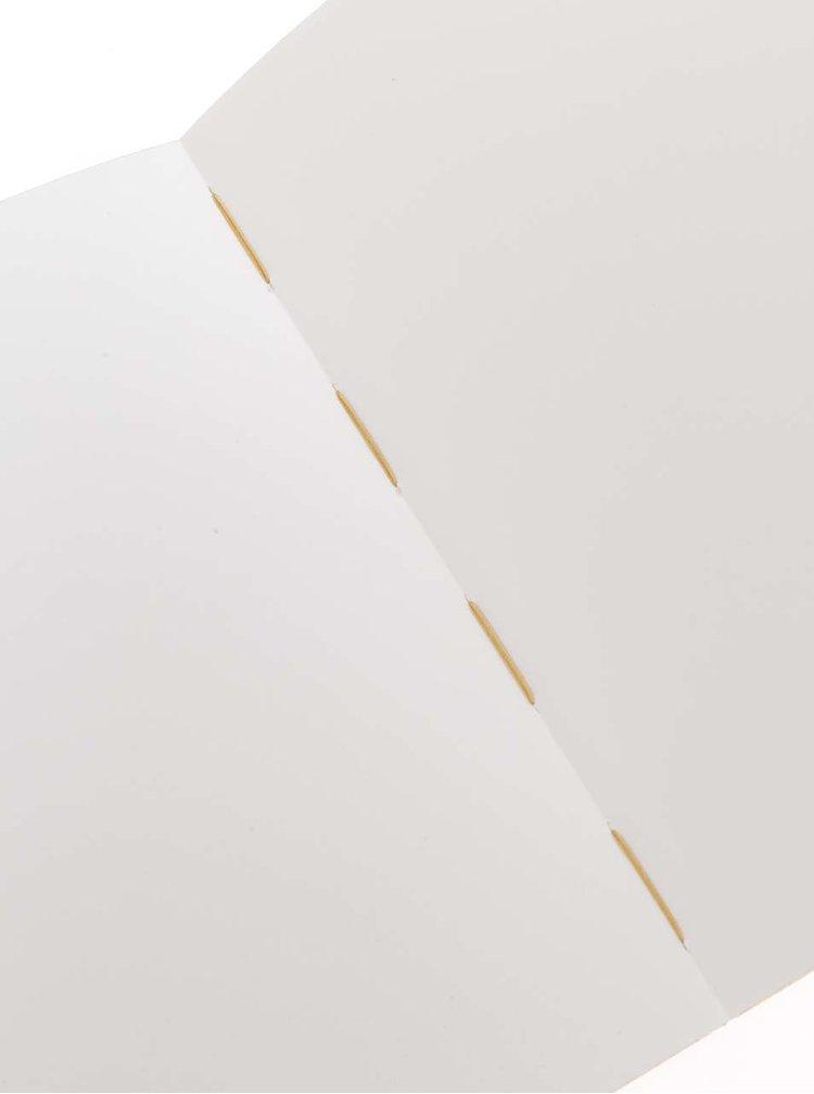 Hnědý malý zápisník s okrajem ve zlaté barvě Mishmash