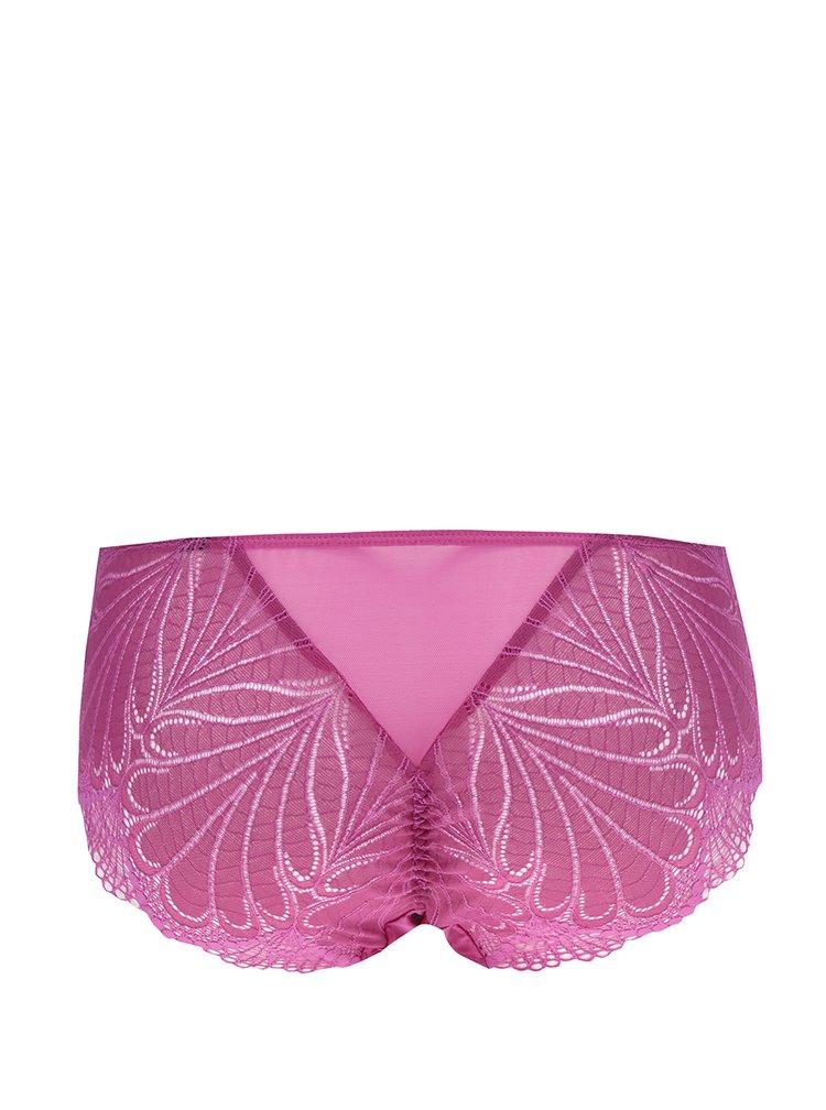 Růžové krajkové kalhotky Wonderbra