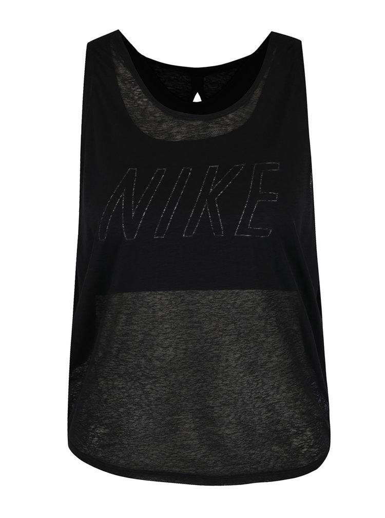 Černé dámské funkční tílko 2v1 Nike Training