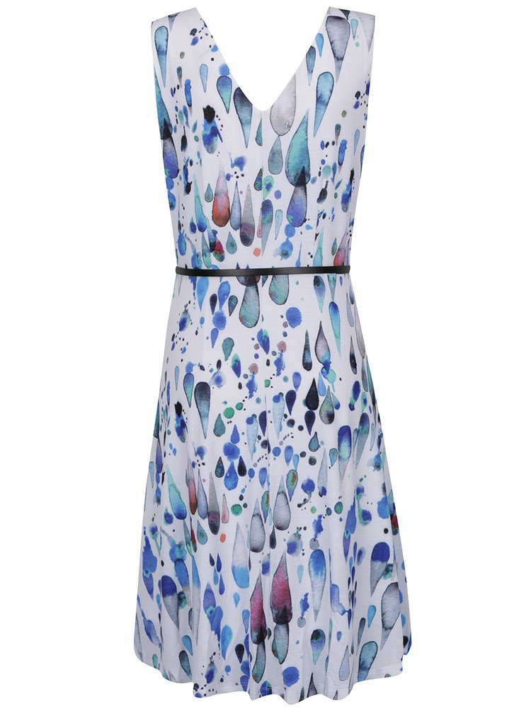Modro-krémové vzorované šaty Smashed Lemon