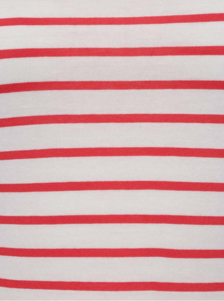 Červeno-krémové pruhované šaty VERO MODA Oslo