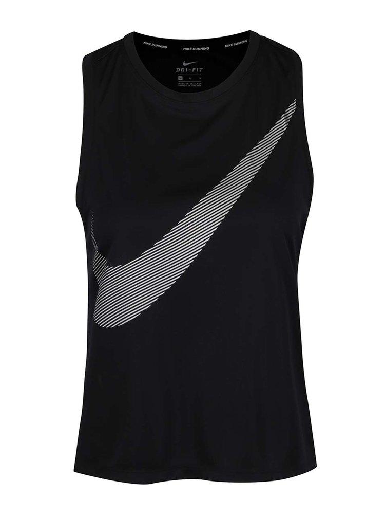 Maiou negru Nike Dry cu logo